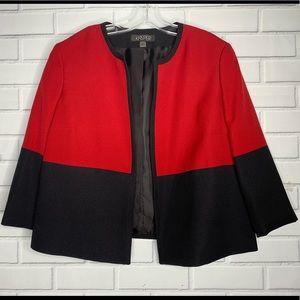 Kasper blazer jacket red black 16